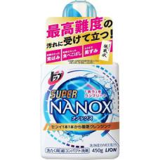 Жидкий концентрат для стирки белья Top Super NANOX, для сильных загрязнений 450gr, LION
